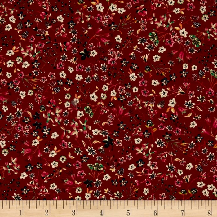 Liberty Fabrics Contemporary  Classic Tana Lawn Donna Leigh Maroon