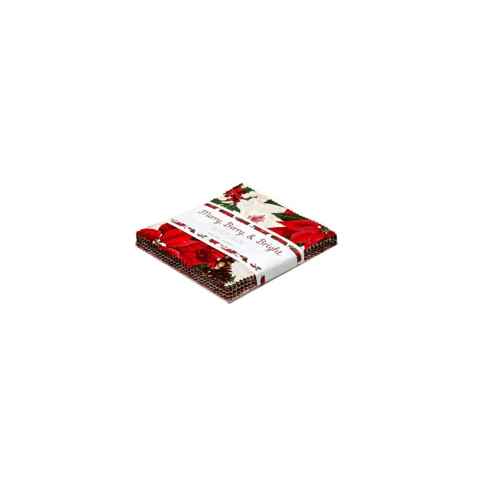 """Merry, Berry & Bright 5"""" Squares Charm Pack"""