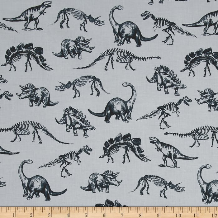 Dinosaurs discount designer fabric for Grey dinosaur fabric