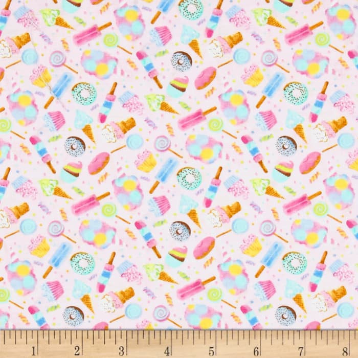 Timeless Treasures Mini's Sweets Pink