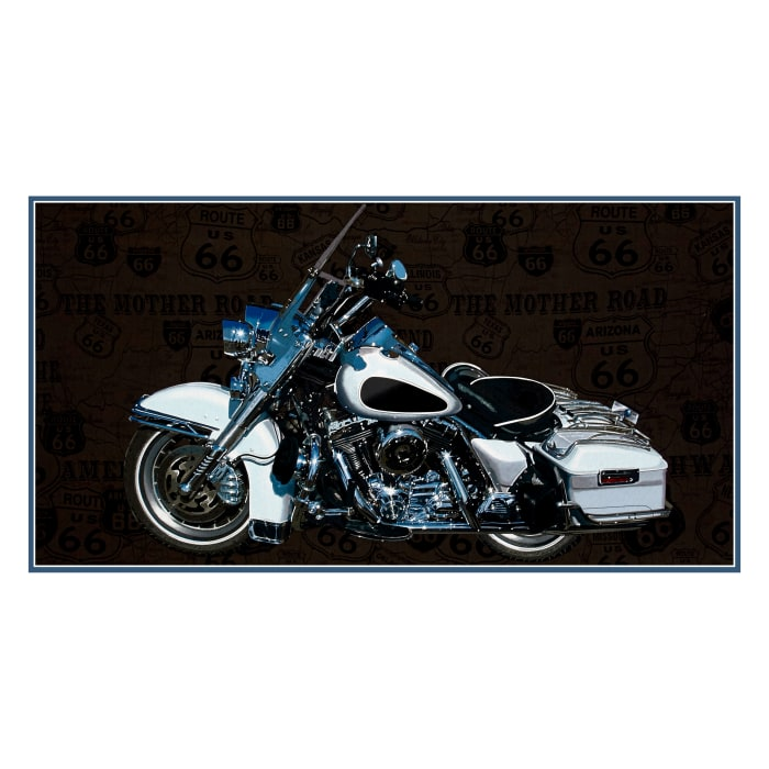 """Jean Poult American Dream 23"""" Motorcycle Panel Gray"""
