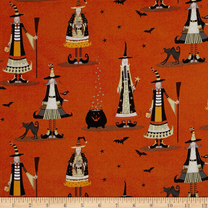 DT-K Signature Witchy Allover Witch Orange