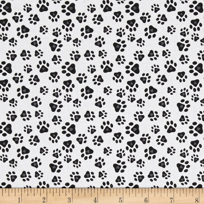 Must Love Dogs Paw Prints With Hearts White
