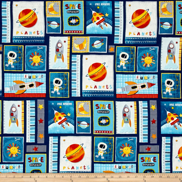 Space Adventure Patch Navy