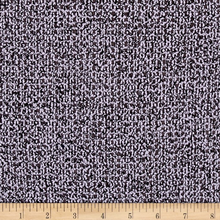Boucle Marled Sweater Knit Textured Purple/Black