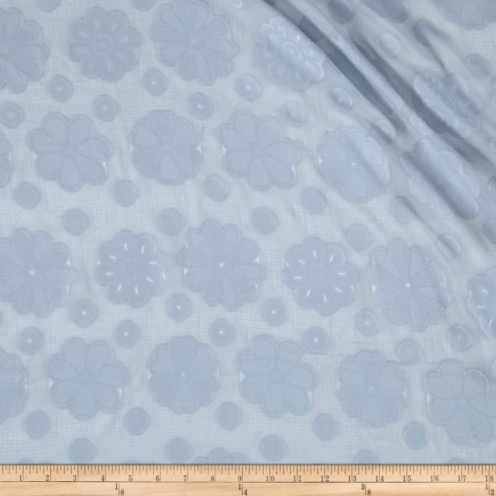 Telio Applique Chiffon Daisy Denim