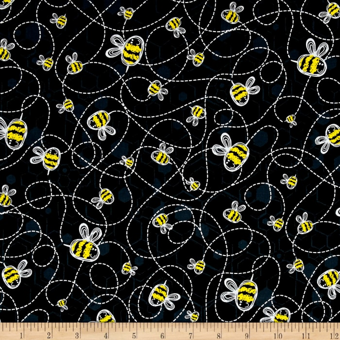 Kanvas Bumble Bumble Buzzing Bee Black