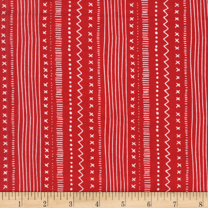 Michael Miller Woodland Winter Stitches And Stripes Santa