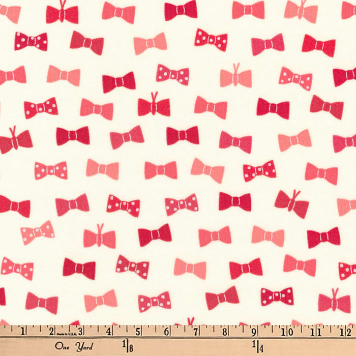 Kaufman London Calling Lawn Bow Ties Red