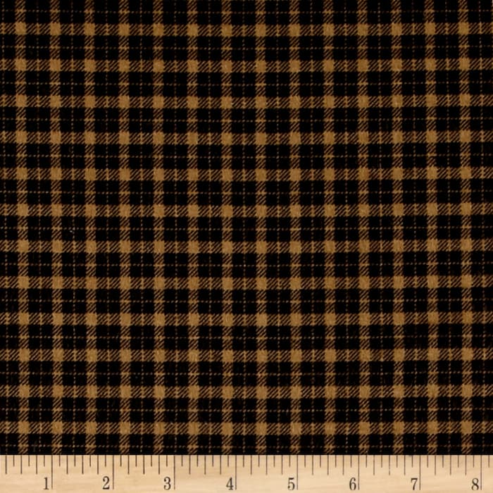 Mad for Plaid Flannel Mini Check Camel