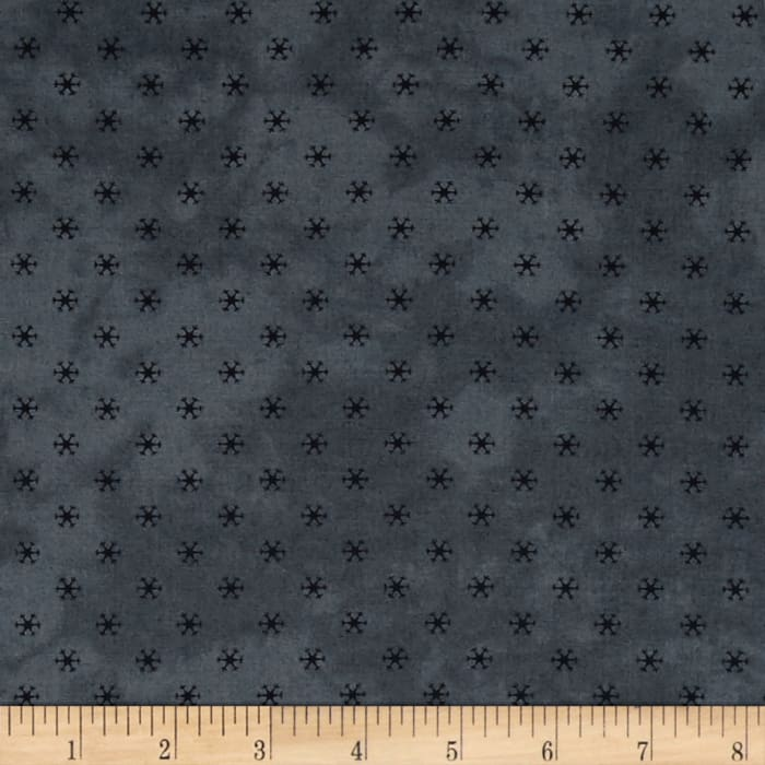 Moda Snowman Gahtherings II Snowflakes Warm Blue