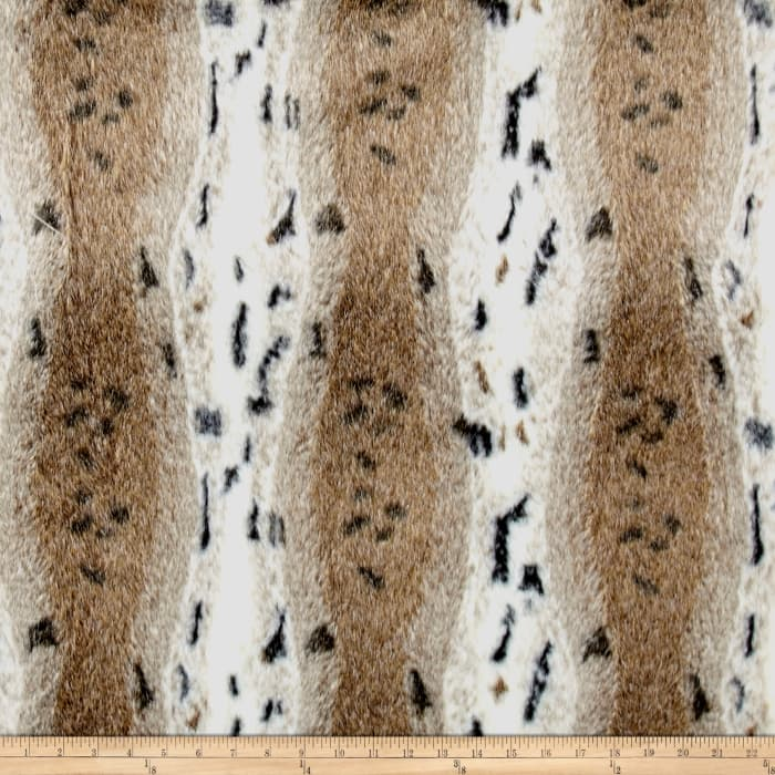 Shannon Snow Lynx Faux Fur Ivory/Taupe
