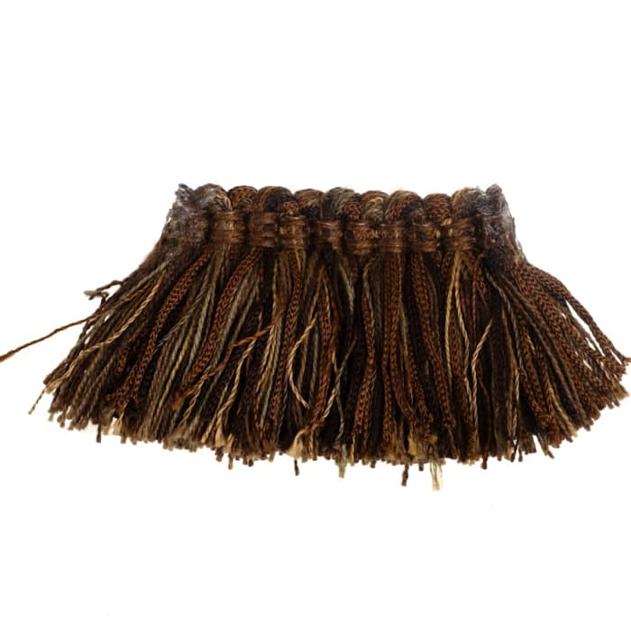 "Fabricut 2"" Luzianne Brush Fringe Coffee"