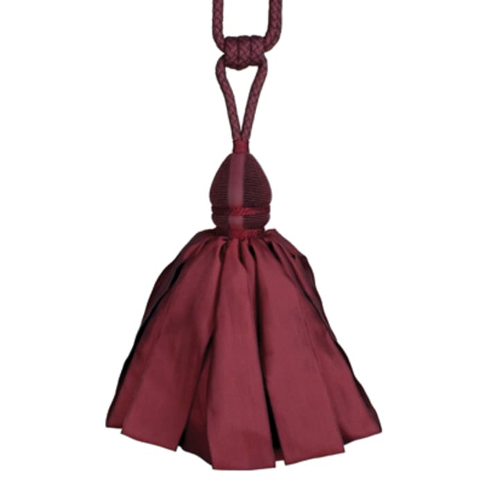 Fabricut Ribbondance Single Tassel Tieback Burgundy