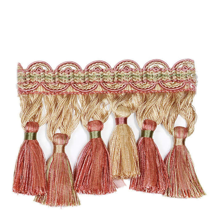 "Fabricut 4.125"" Ronan Tassel Fringe Strawberry"