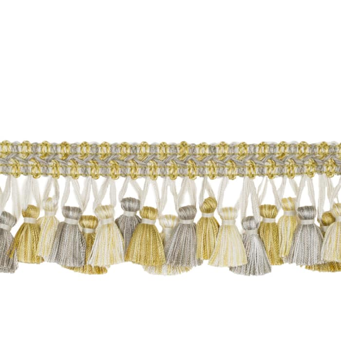 "Jaclyn Smith 2.75"" 02926 Tassel Fringe Lemon Zest"