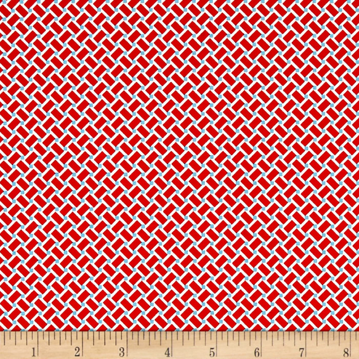 Riley Blake Arbor Blossom Geometric Red