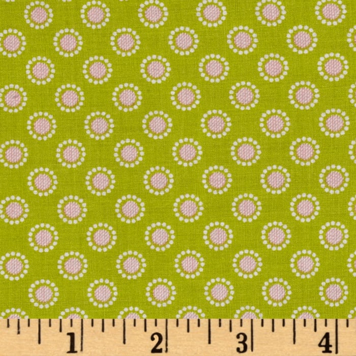 Penny Rose Linen and Lawn Circle Green