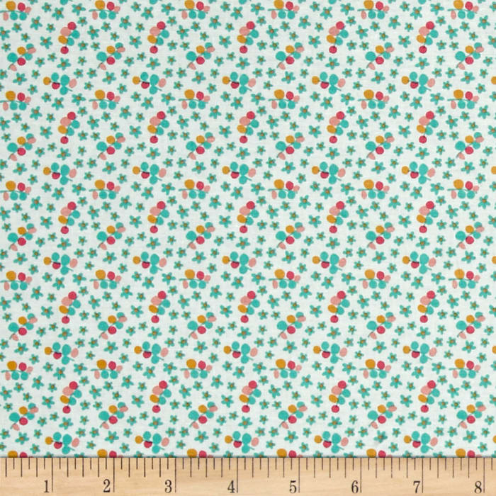 Riley Blake Forget-me-not Petals Green