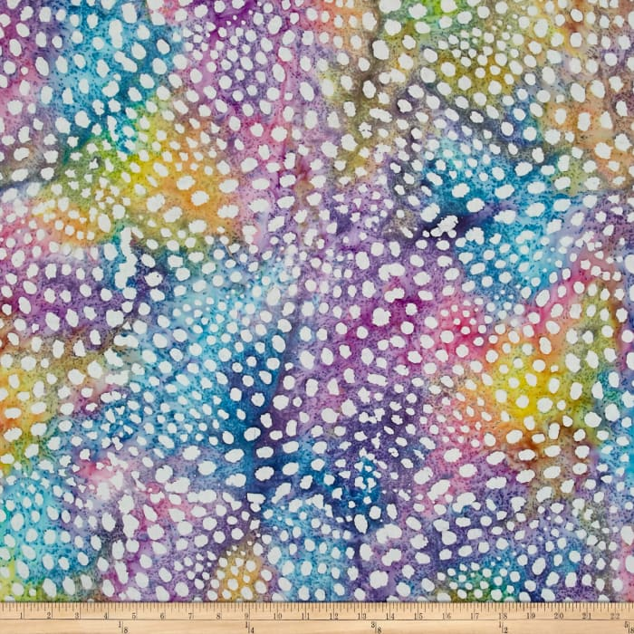 Indian Batik Small Dots Pastel/Multi