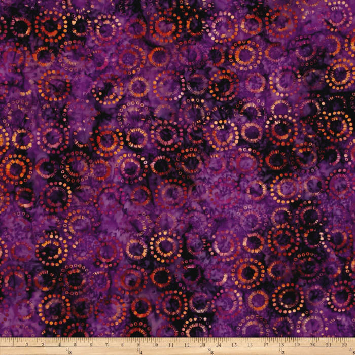 Anthology Batik Circles Coral/Purple
