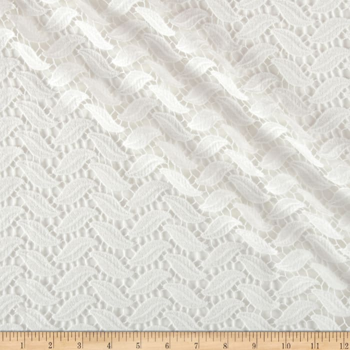 Technical Cotton Lace Ivory