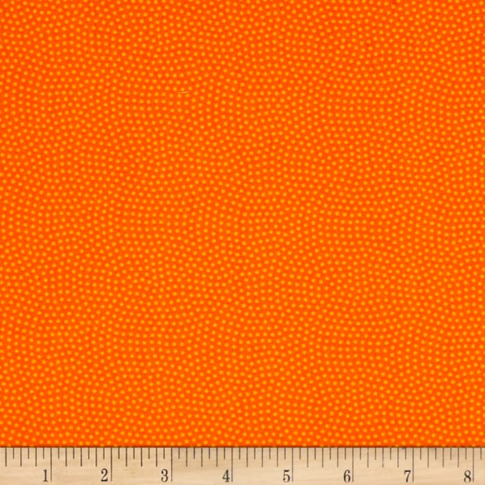 Timeless Treasures Spin Dot Orange