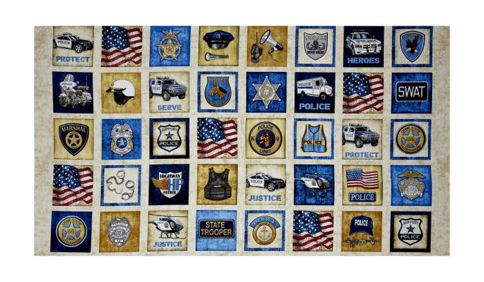 """Protect & Serve Patches 24"""" Panel Natural"""