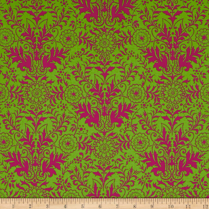 Ink & Arrow Toucan Do It! Damask Lime/Pink