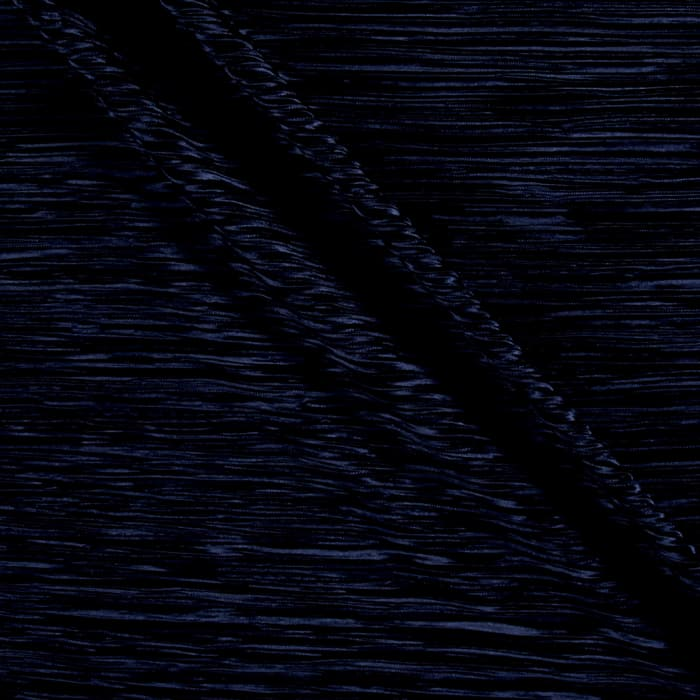 Pleated Bodre Solid Navy