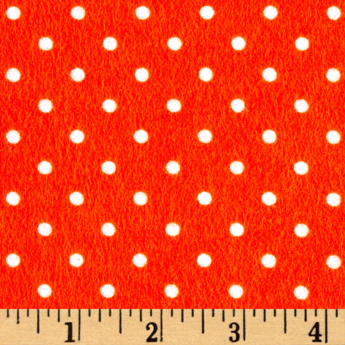 Timeless Treasures Flannel Dot Orange