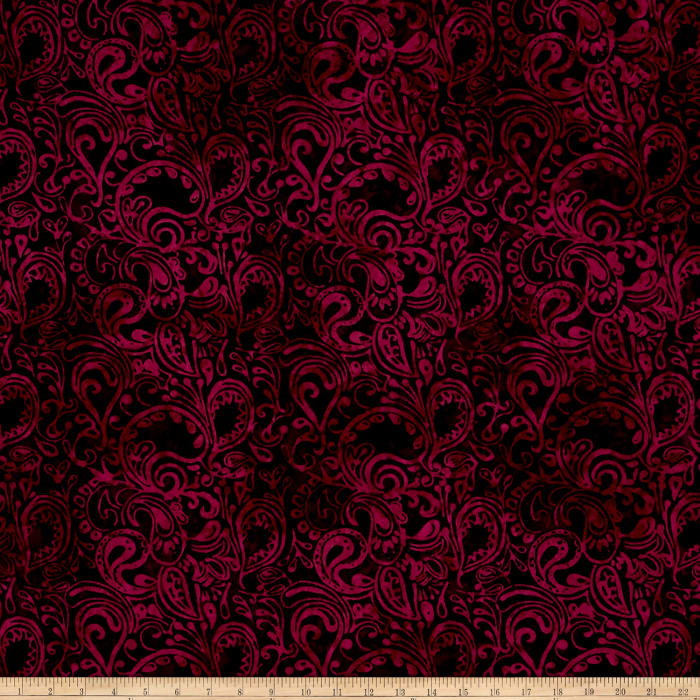 Timeless Treasures Tonga Batik Paisley Paisley Wine