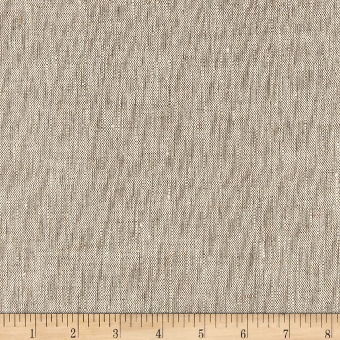 European 100% Washed Slub Linen Oatmeal