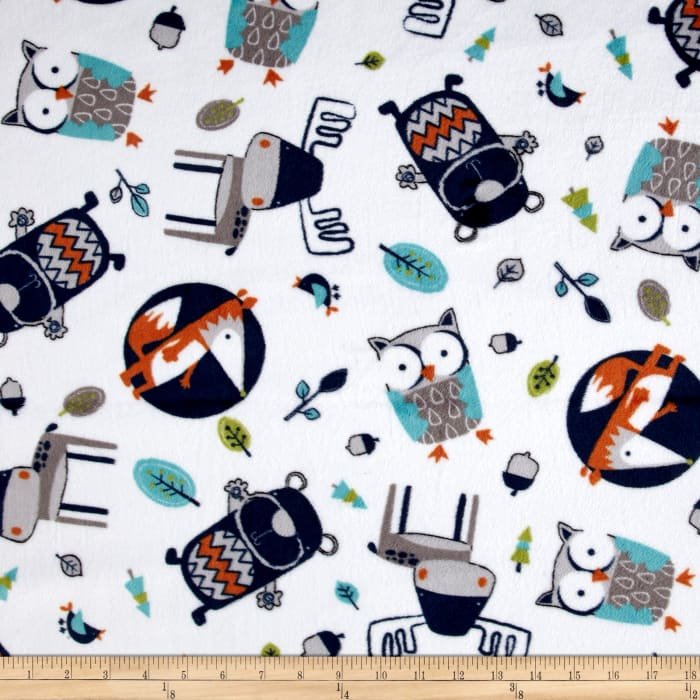 Shannon Minky Cuddle Into The Woods Navy