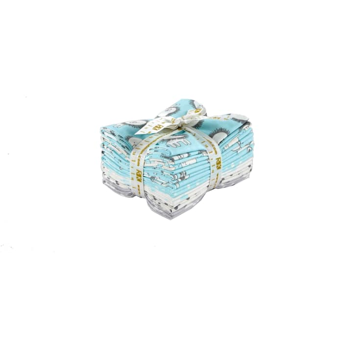 Kaufman Penned Pals Fat Quarter Bundle Aqua