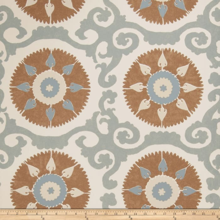 Fabricut 50027w Suzani Wallpaper Mineral 02 (Double Roll)
