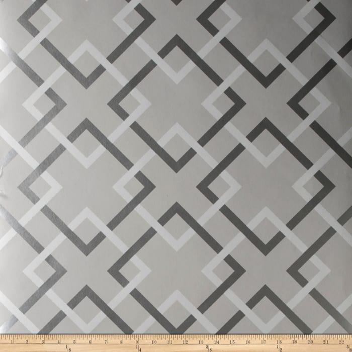 Fabricut 50174w Carrefours Wallpaper French Grey 04 (Double Roll)