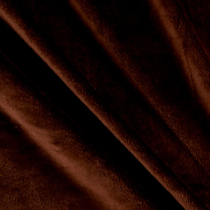Solid Minky Plush Brown