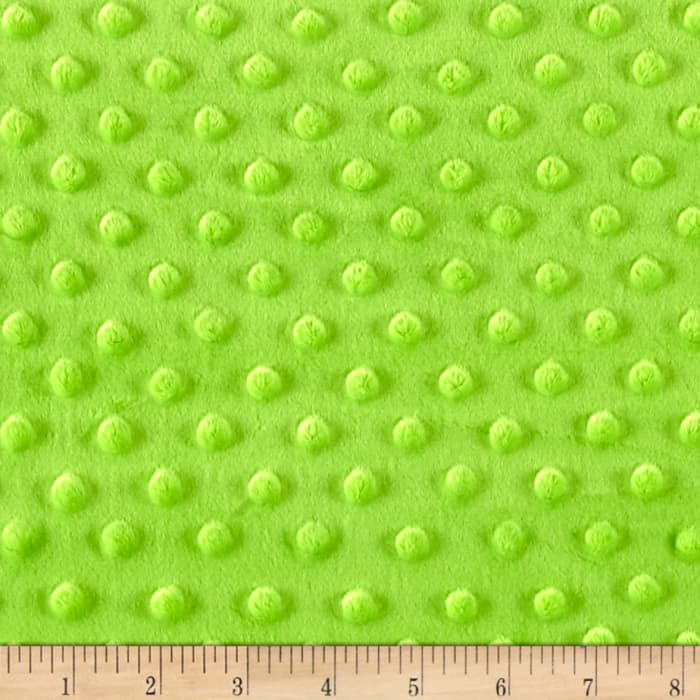 Minky Plush Dot Dark Lime