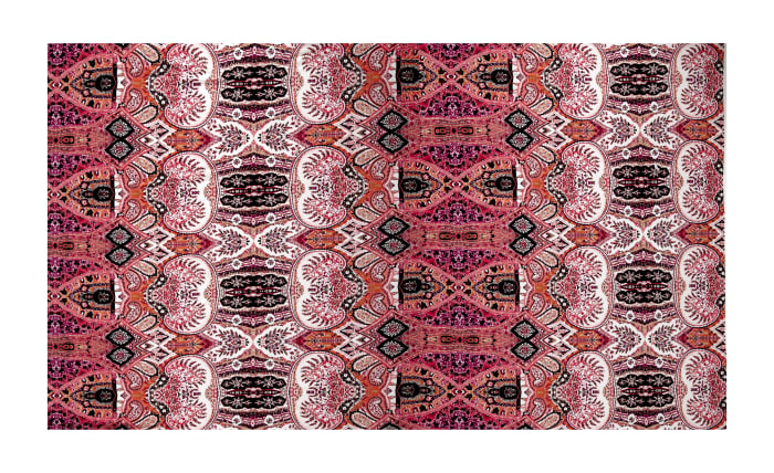 Maggy London ITY Knit Overlapping Paisley Pink/Orange/Multi