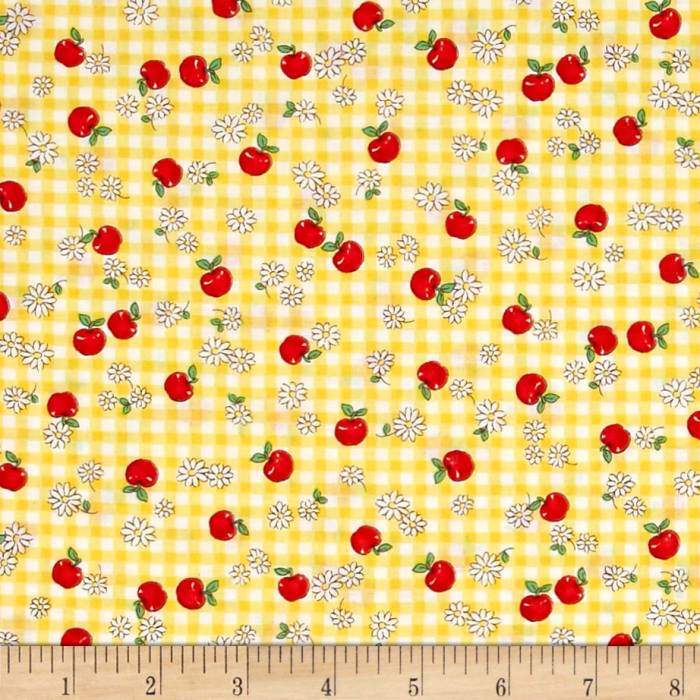 Yellow And White Quilting Fabric