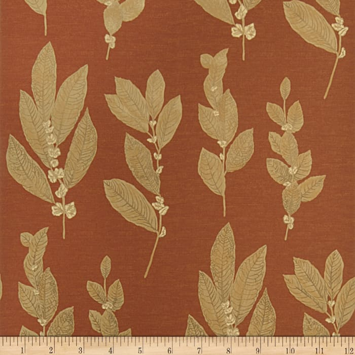 Fabricut Hobart Wallpaper Cinnabar (Double Roll)