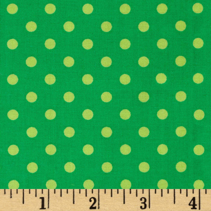 Michael Miller Dumb Dot Sorbet Sprout Green