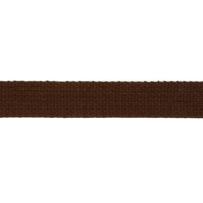 "Cotton Webbing 1"" Brown"
