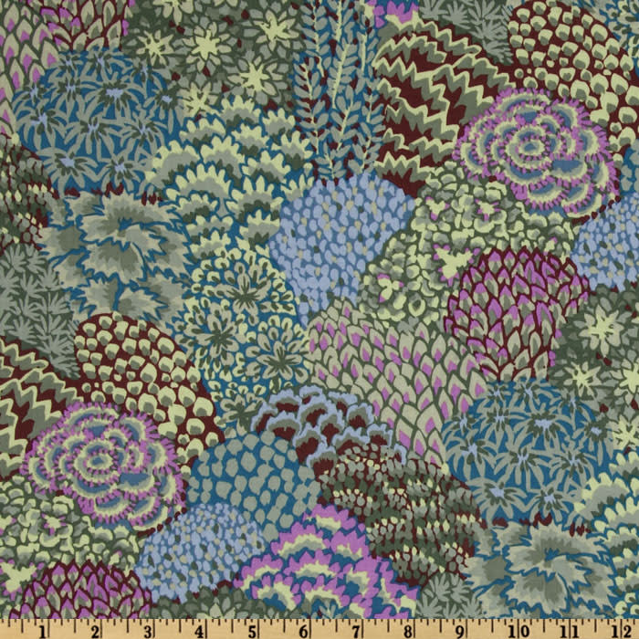 Kaffe Fassett Collective Fall Oriental Trees Stone
