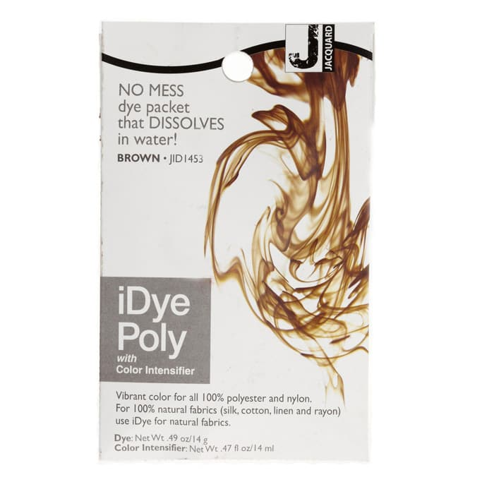 Jacquard iDye Poly Synthetic Fiber Fabric Dye Brown
