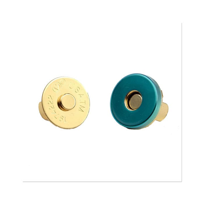 Magnetic Purse Snap 18mm Gold
