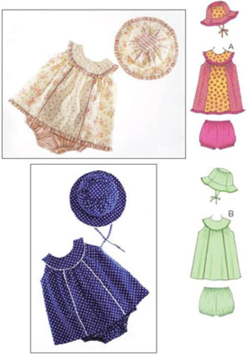 Kwik Sew Babies' Dresses, Bloomers & Hat Pattern