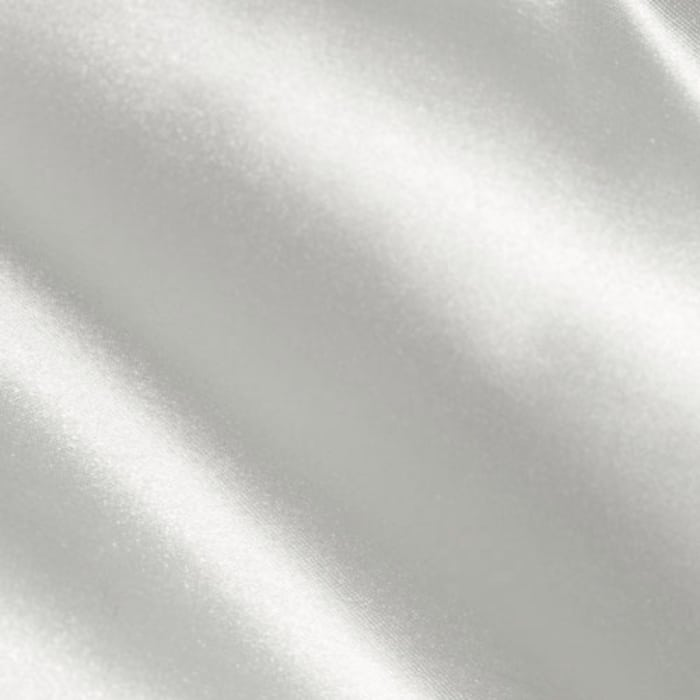 Silky Satin Charmeuse Solid White