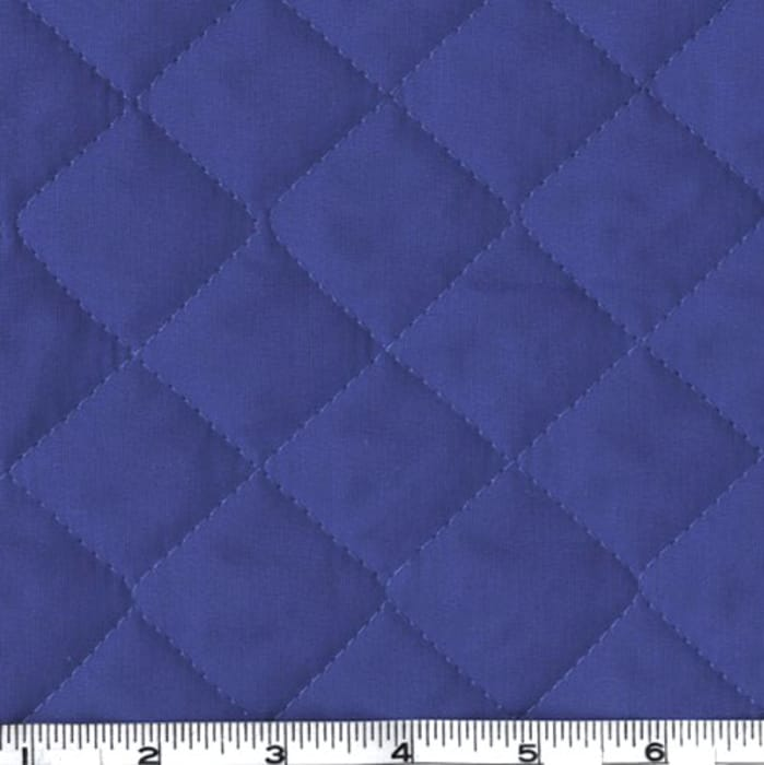 Double-Sided Quilted Broadcloth Blue